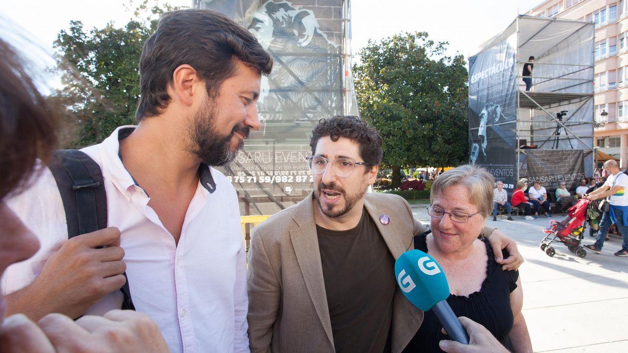 La protesta contra el cierre de Alcoa, en imágenes.Asamblea de Podemos Galicia