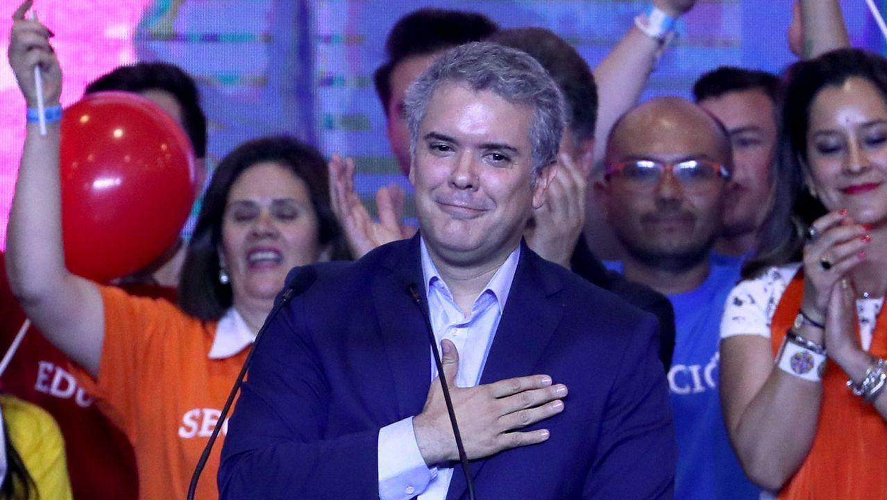Nicolás Maduro, objetivo de un ataque con drones explosivos en Caracas.El candidato del partido uribista, Iván Duque, vencedor de la primera vuelta de las elecciones en Colombia