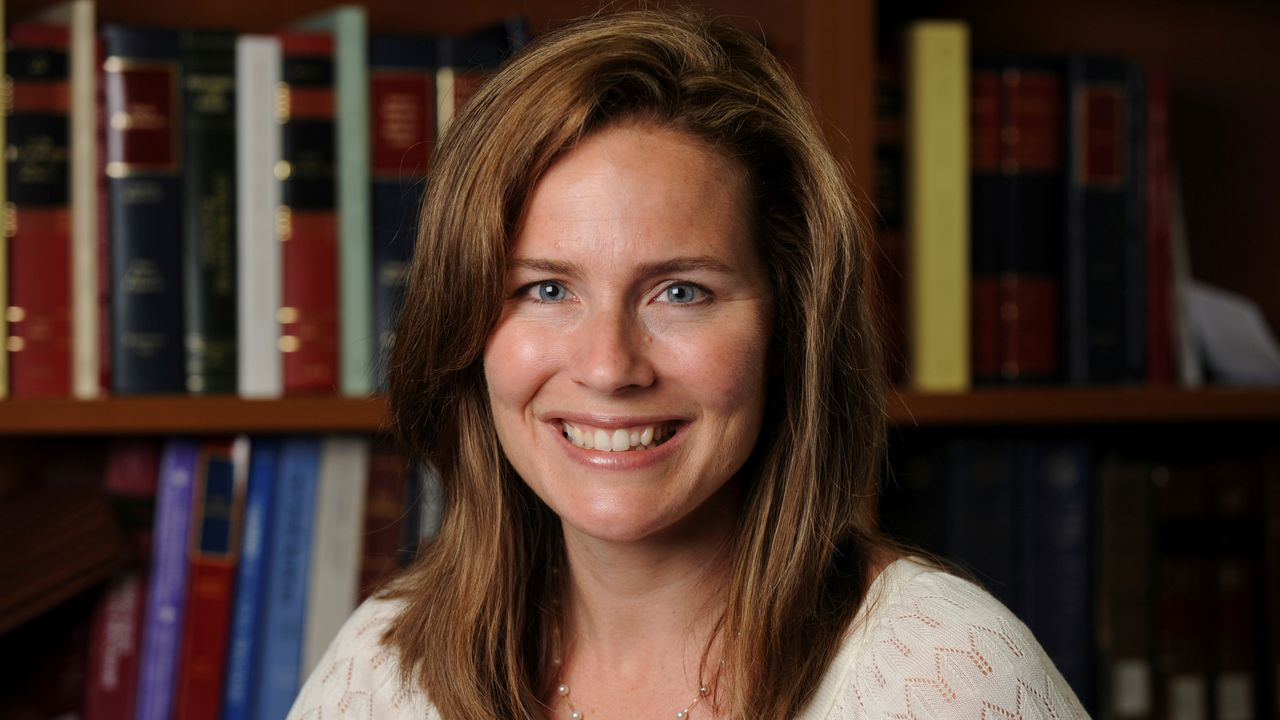 La jueza federal Amy Coney Barrett
