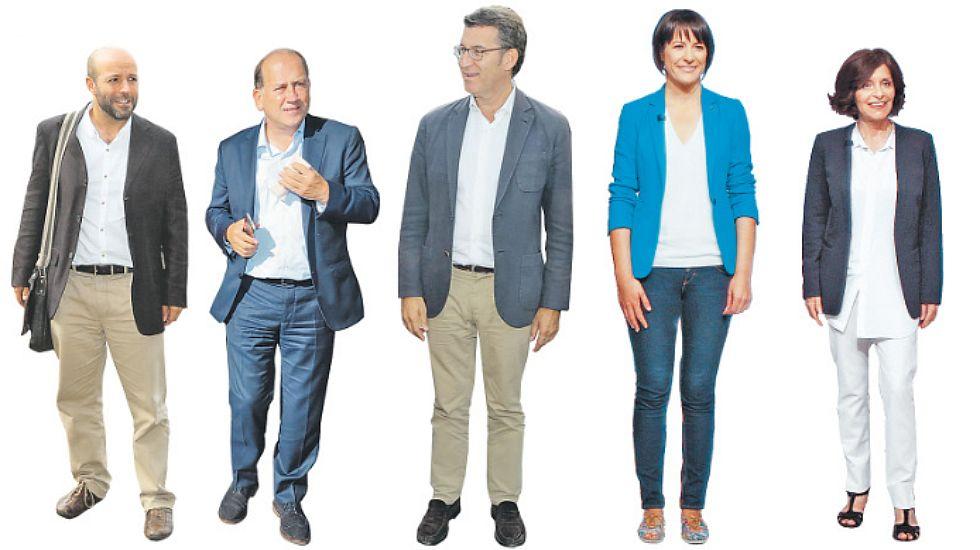 Los candidatos descansan en la jornada de reflexión.Losada, con Villacís y otras dirigentes de Ciudadanos.