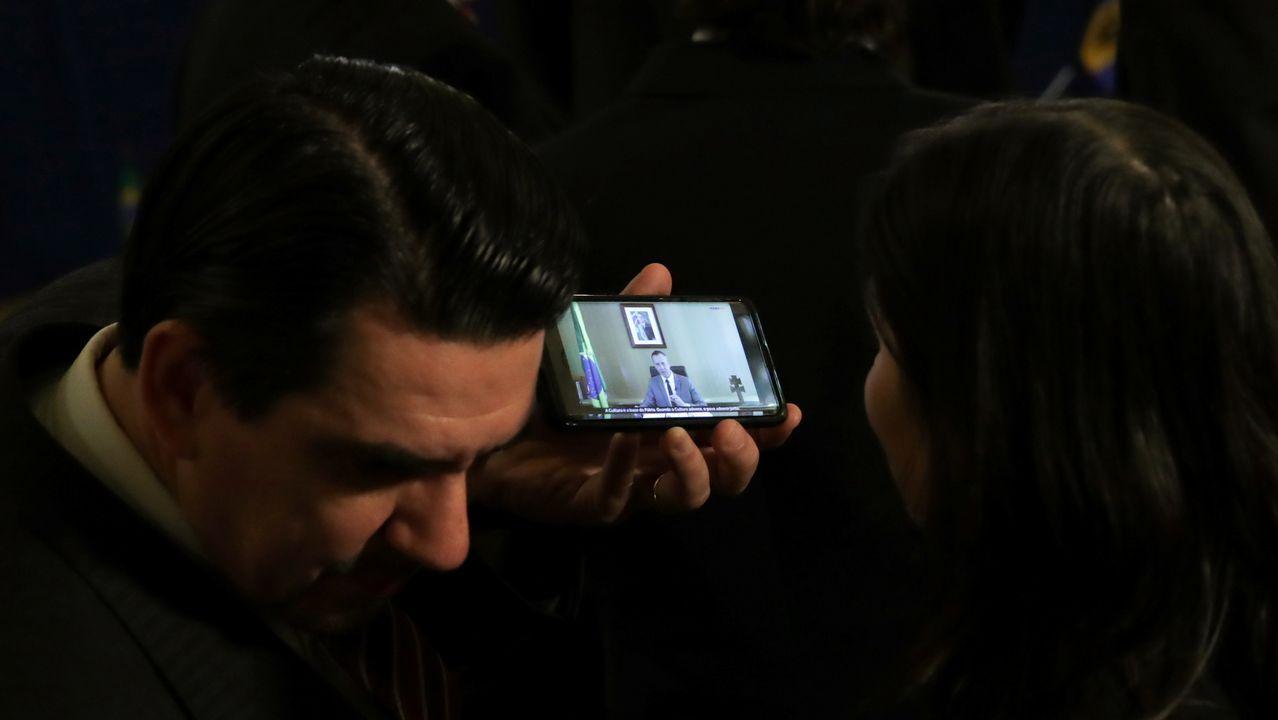 Diplomáticos escuchan el discurso de Alvim, durante una reunión de la OEA en Washington