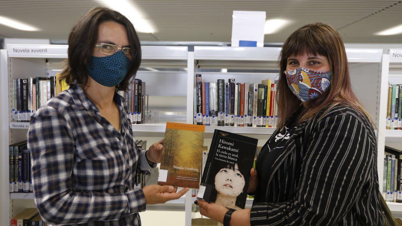 Mercedes y Lucía participaron en la iniciativa de la Biblioteca Nós