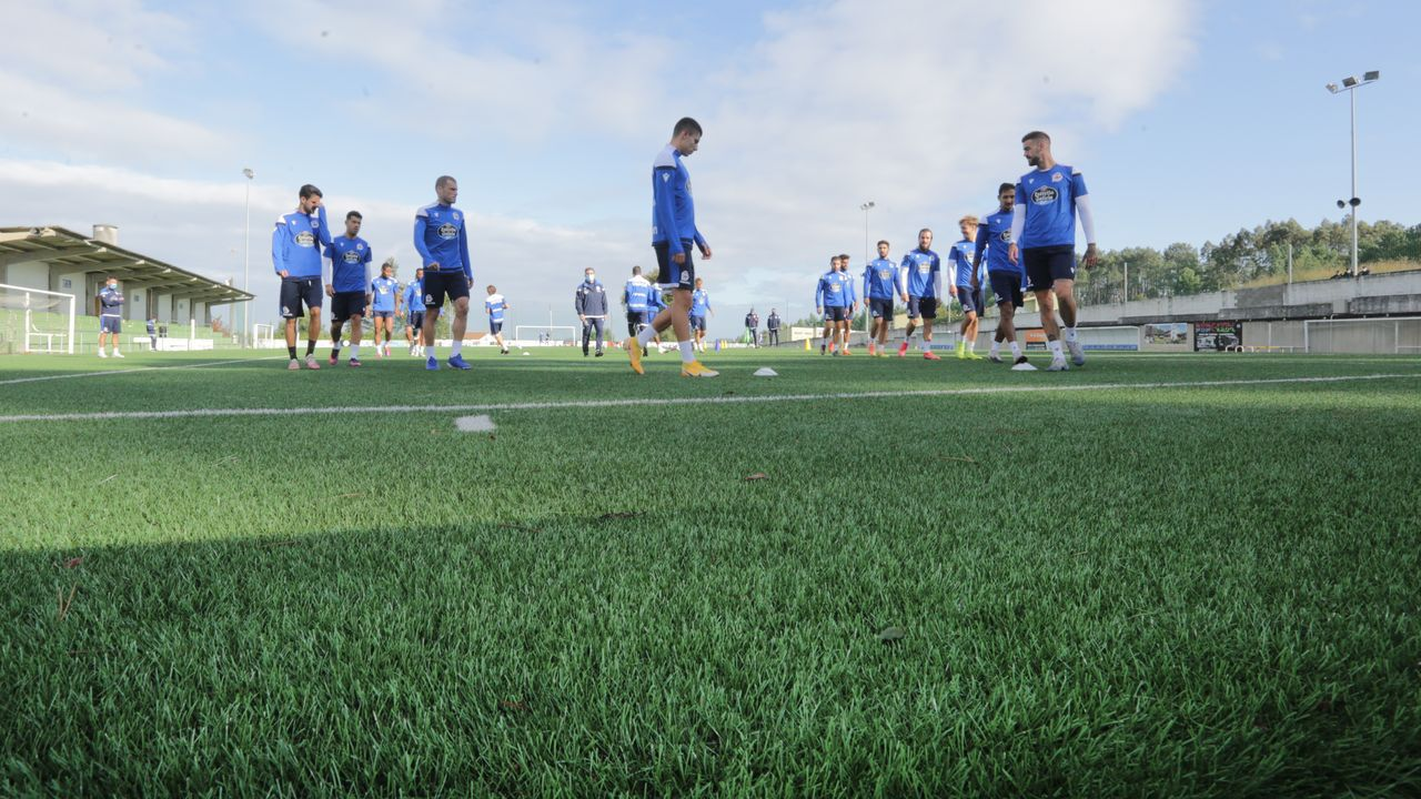 Las imágenes del partido entre el Pontevedra y el Celta B.Borja Granero, en un entrenamiento