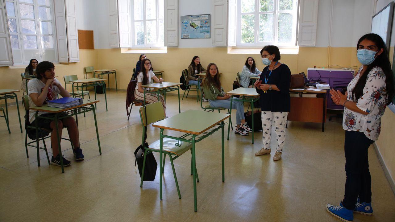 El pontevedrés IES Valle Inclán ha recibido a los primeros alumnos