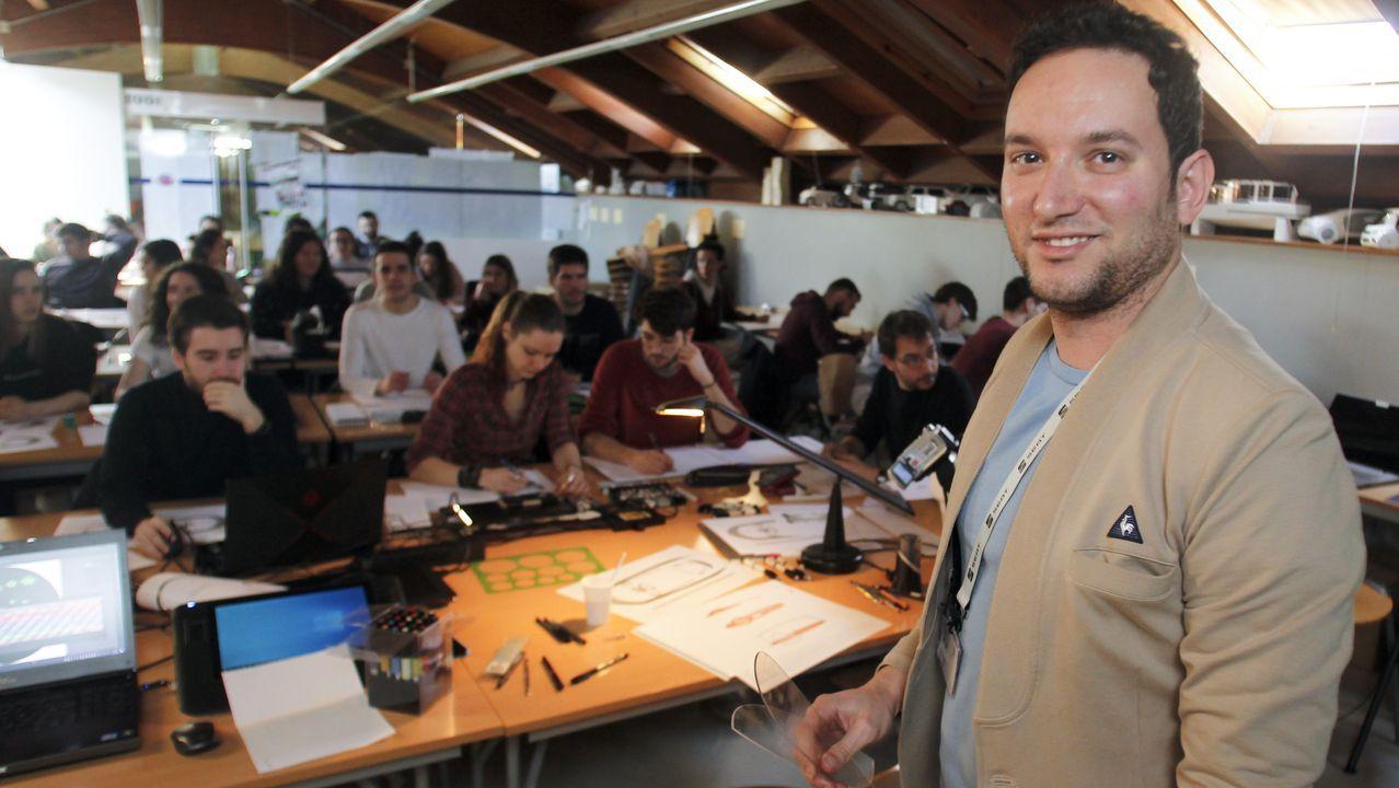 Álex Pérez, ingeniero de Seat y Cupra, impartió esta semana un seminario en la EUDI del campus, donde estudió Diseño Industrial