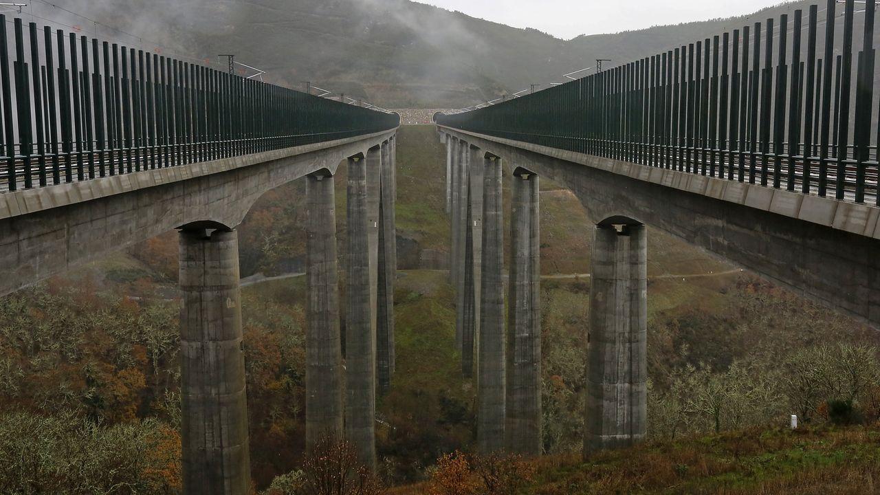 El viaducto férreo de Teixeiras, en Laza