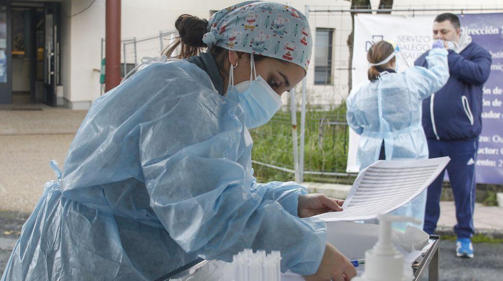 Cribado con pruebas PCR realizado la pasada semana en Mugardos
