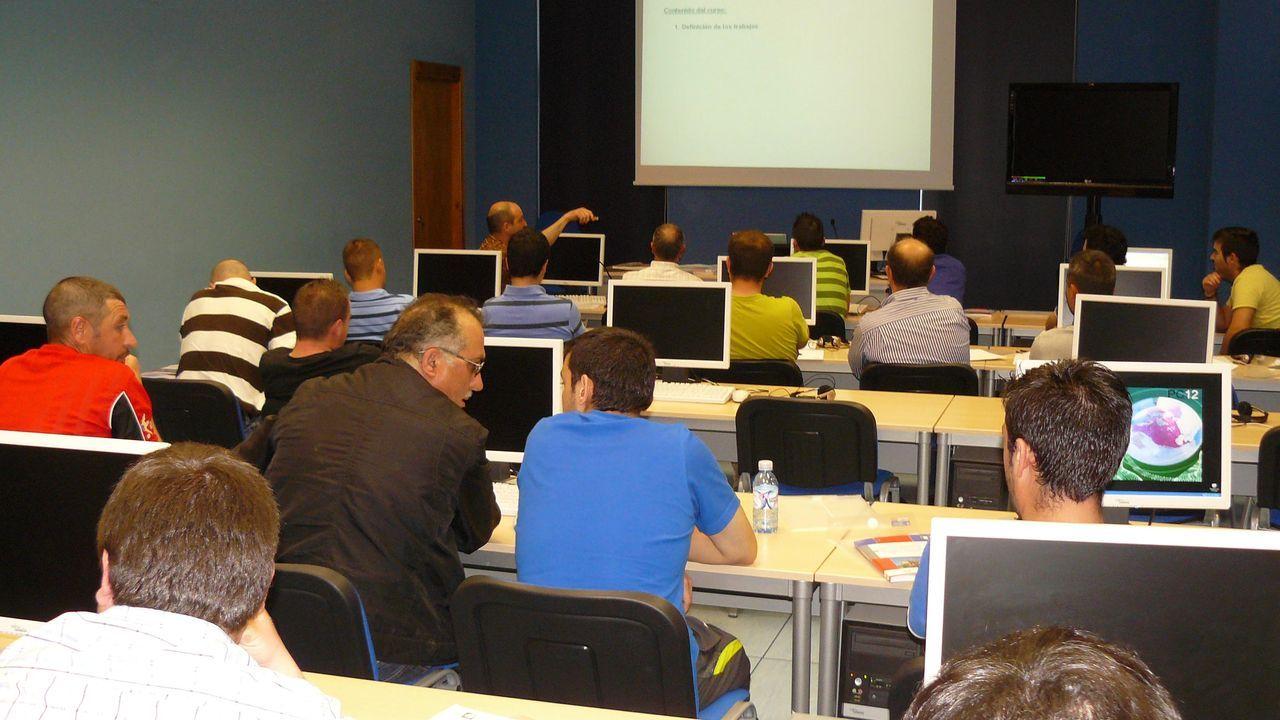 Un curso sobre seguridad laboral en el aula Cemit de Quiroga, en una imagen de archivo