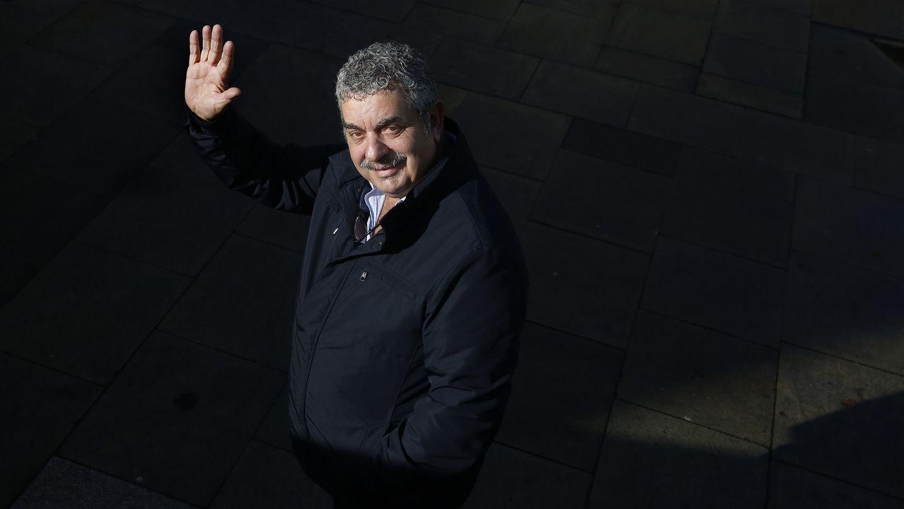 António Costa, a su llegada con Mário Centero a la rueda de prensa para infomar de la renuncia del ministro de Finanzas