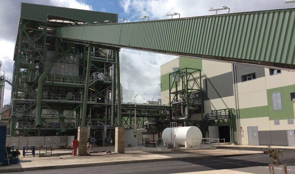 Planta de biomasa de Ence en Mérida