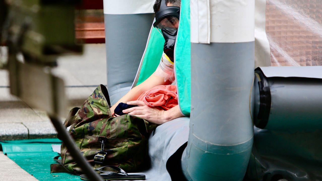 El operativo tuvo lugar en la residencia para personas mayores de la calle López Mora