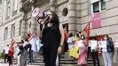 Los integrantes del sindicato se manifestaron frente a la puerta de la Subdelegación