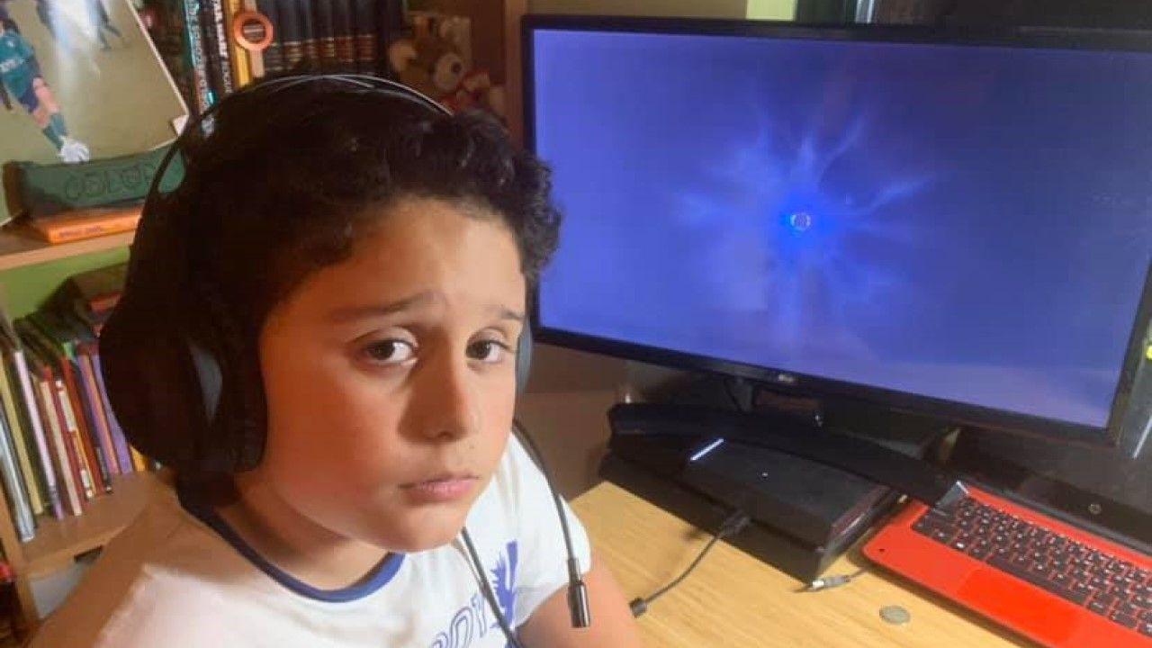 Martín durante el apagón de Fortnite