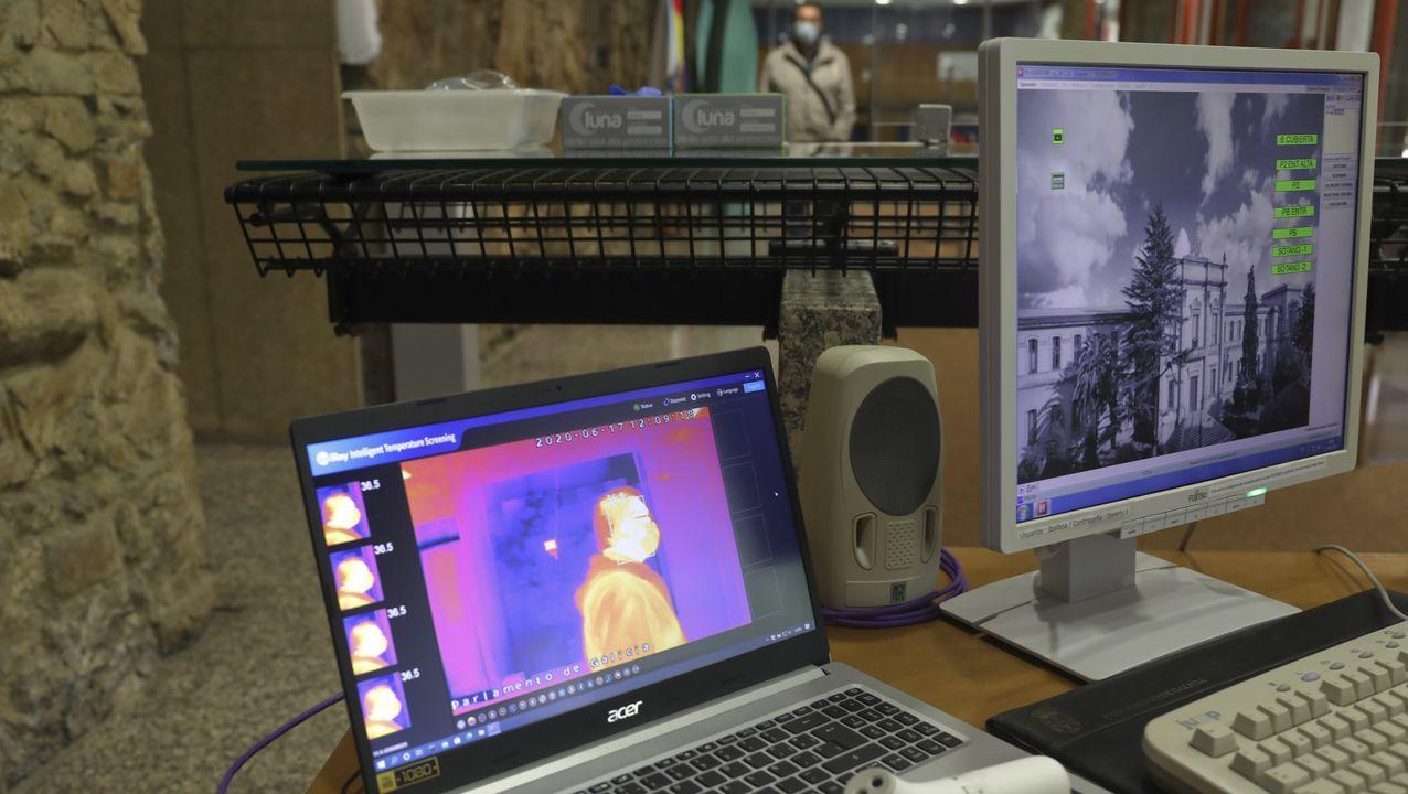 Dispositivos para detectar la temperatura corporal en el Parlamento