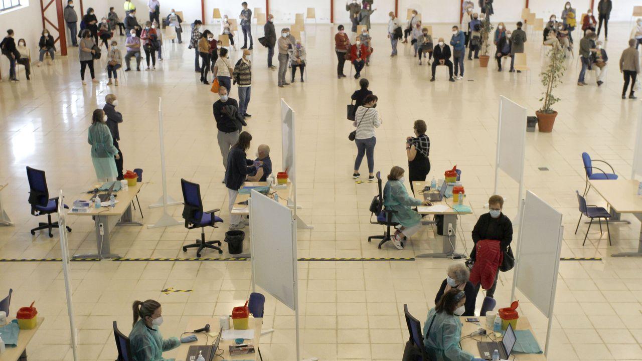 En FIMO se ha instalado el hospital de campaña para ampliar la seguridad del dispositivo de vacunación