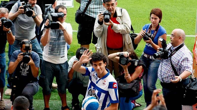 El Celta-Lugo, en imágenes.Arriba, Aspas y Vila, abajo, Álex en el Racing de Ferrol.