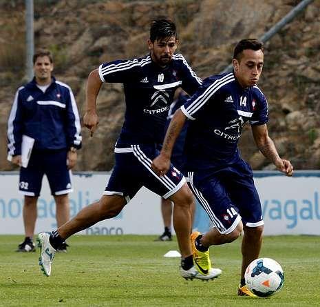 El Celta-Southampton, en fotos.Luis Enrique está exigiendo a sus jugadores a través del trabajo con el balón.
