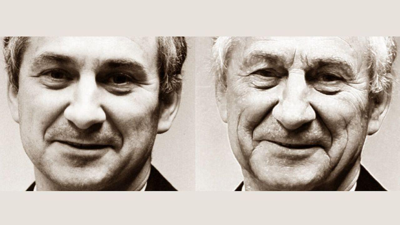 ANTES Y AHORA. La Policía Científica ha realizado un retrato de envejecimiento del doctor Cuadrado para difundir su posible apariencia actual. La foto de la izquierda es previa a la desaparición, cuando tenía 49 años. La de la derecha muestra cómo sería hoy, con 79 años