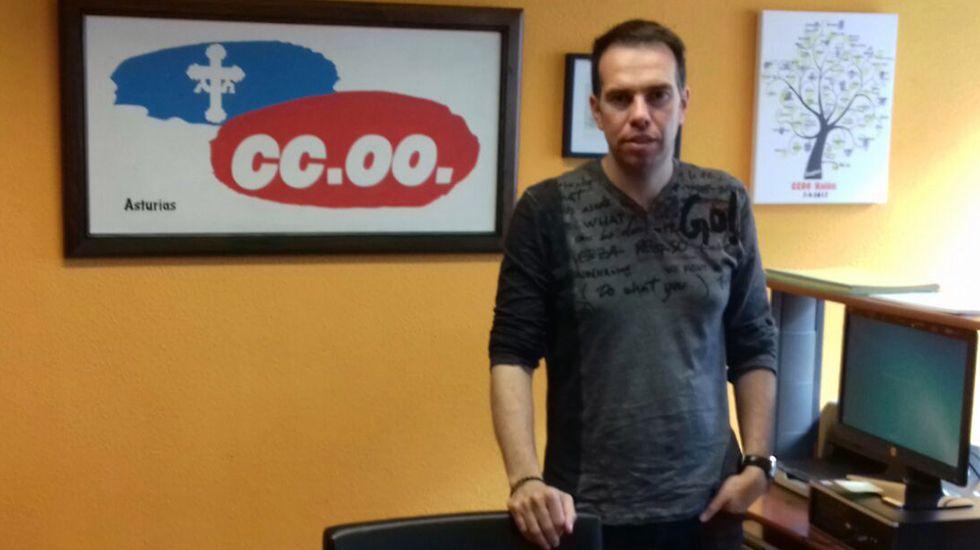 José Manuel Zapico, secretario general del CCOO
