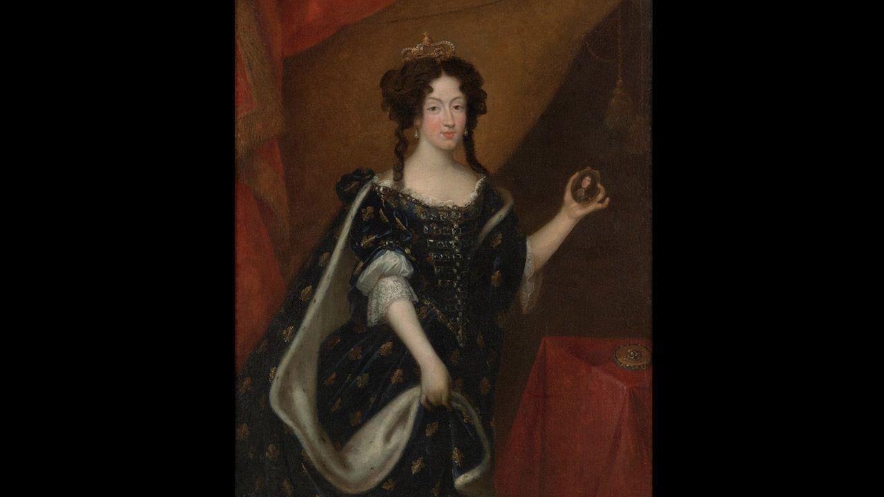 Retrato de María Luisa de Orleans, Reina consorte de España (1679), de Pierre Mignard. Colección Villagonzalo
