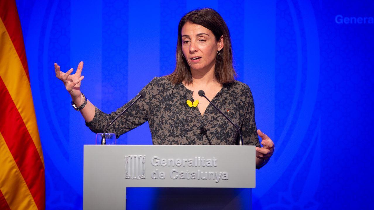 EN DIRECTO: Comparece la ministra portavoz María Jesús Montero.Meritxell Budó, consejera de Presidencia de la Generalitat de Cataluña