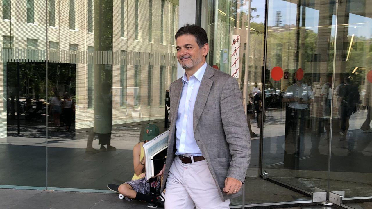 Oriol Pujol, el pasado año a la salida de los juzgados tras prestar declaración