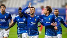 Tejera celebra su gol ante el Sporting