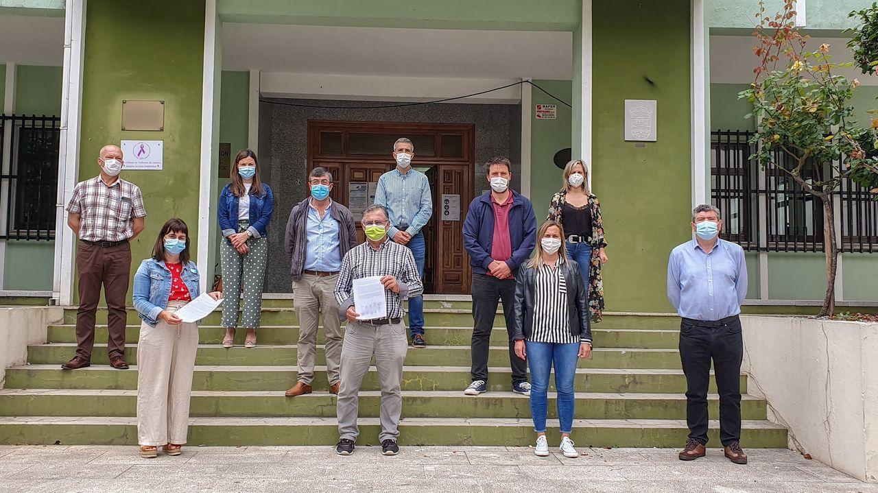 Alcaldes del PSOE y del BNG del distrito sanitario de A Mariña.