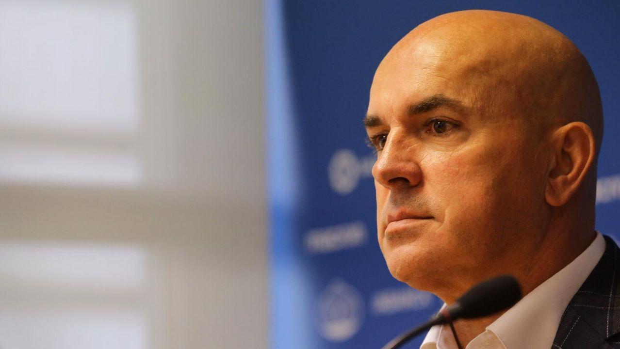 Presentación de Luis César en el Deportivo