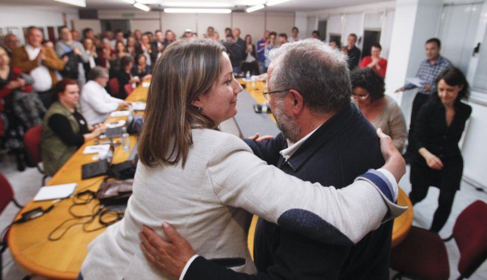 Martínez hablando con Sotuela el pasado domingo.