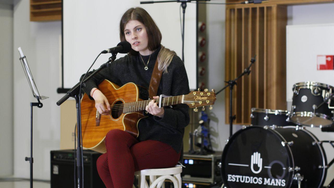 Leticia Rey, nunha das audicións en Estudios Mans