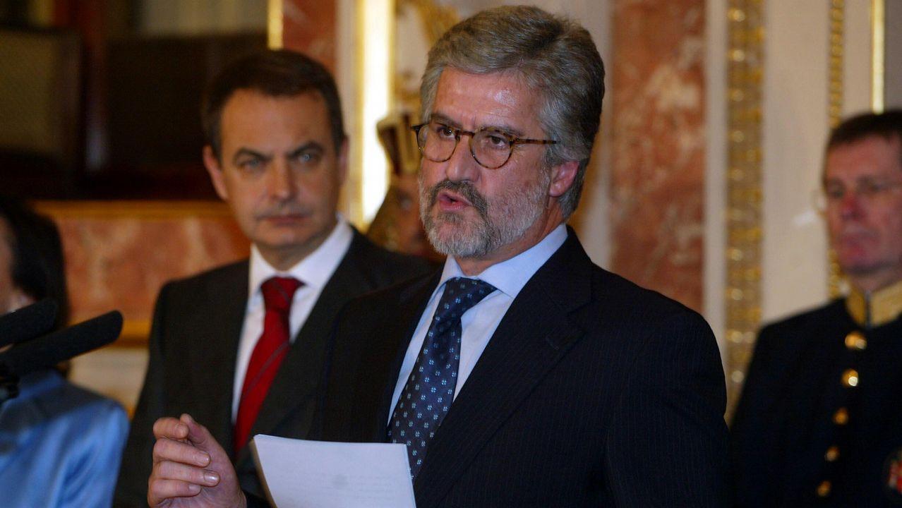 Manuel Marín, durante el XXVII aniversario de la Constitución, en el 2005