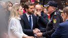 Casado, en la entrada de la Jefatura de Policía de Barcelona