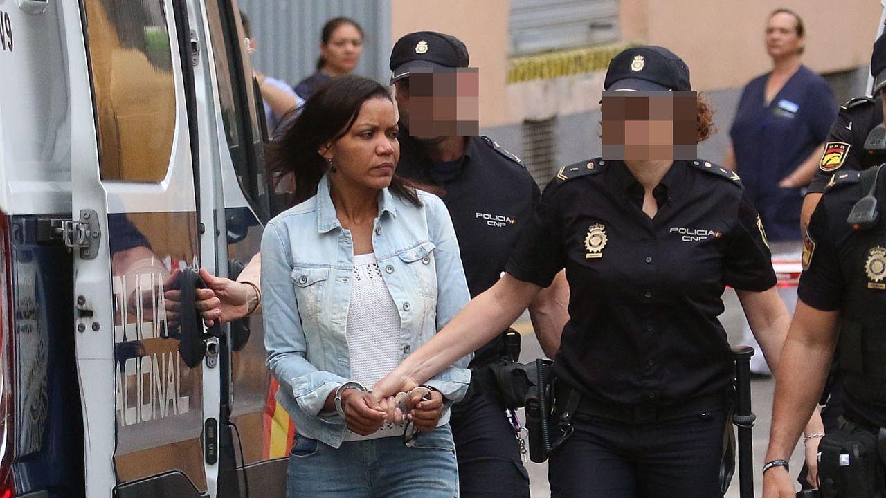 La autora confesa de la muerte del niño Gabriel Cruz, Ana Julia Quezada, a su llegada hoy a la Audiencia Provincial de Almería
