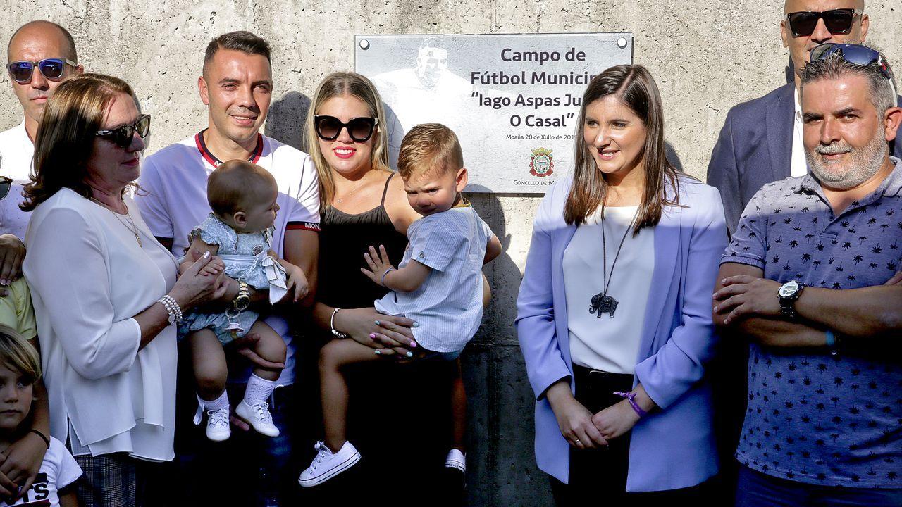Acto de rebautizo del campo Iago Aspas Juncal O Casal