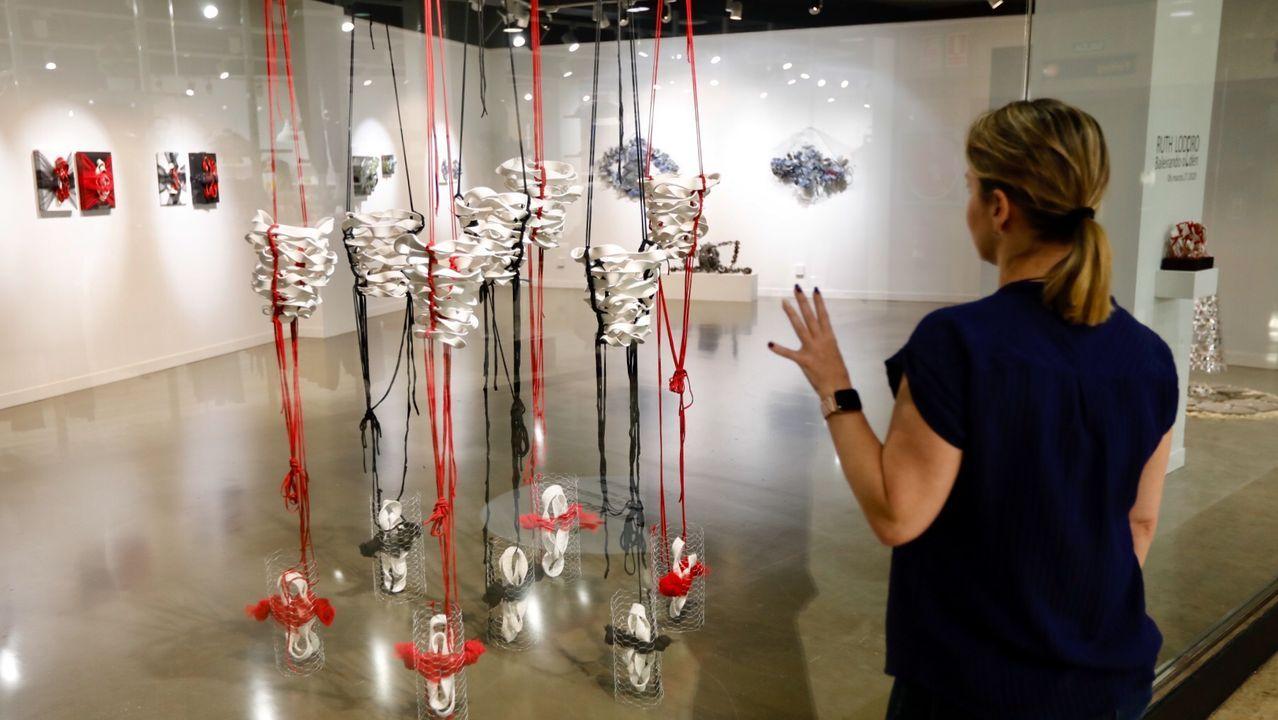 La exposición de Ruth Lodeiro en la sala Apo'strophe, en el centro comercial Plaza Elíptica, se puede ver sin entrar en la galería