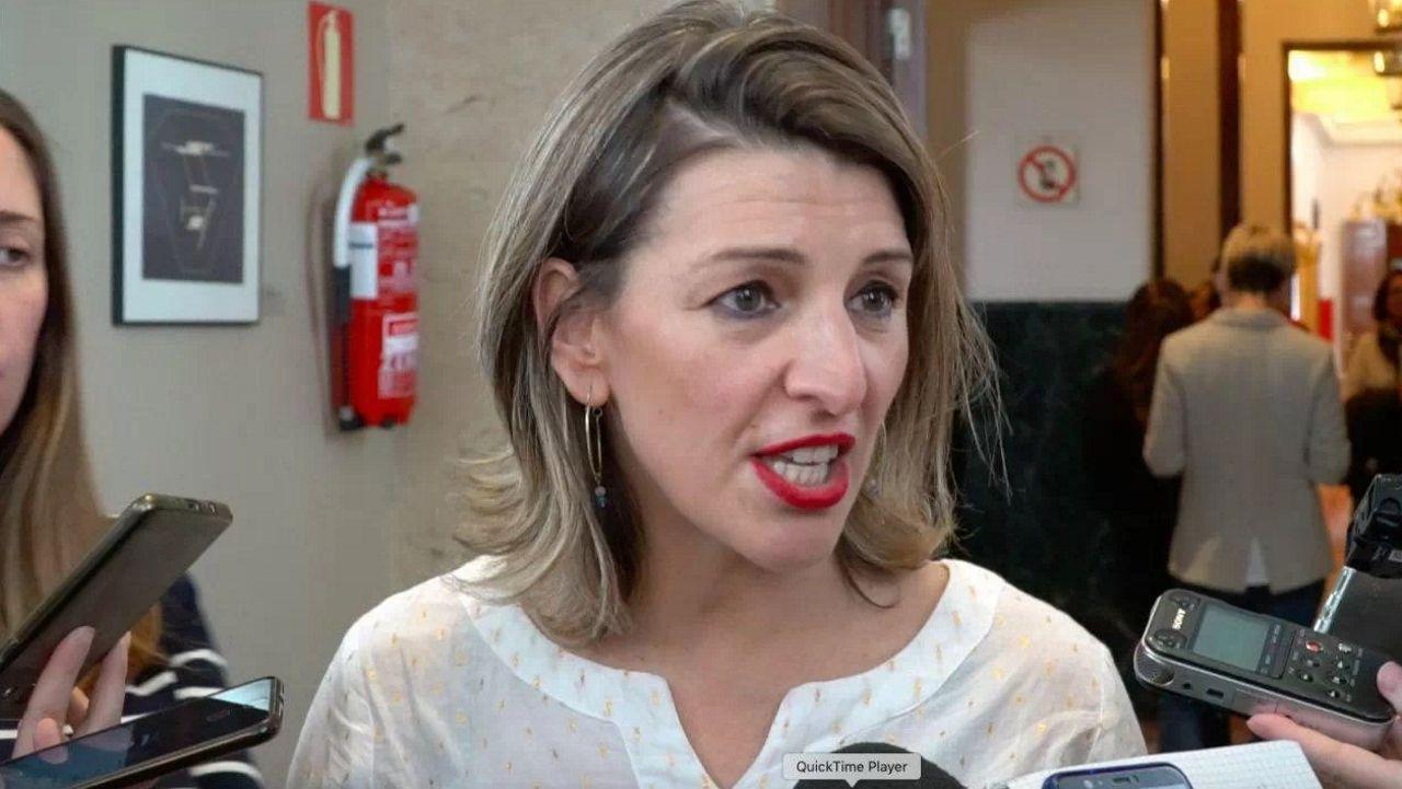 Irene Montero confirma que está embarazada de una niña.Irene Montero, en Vigo
