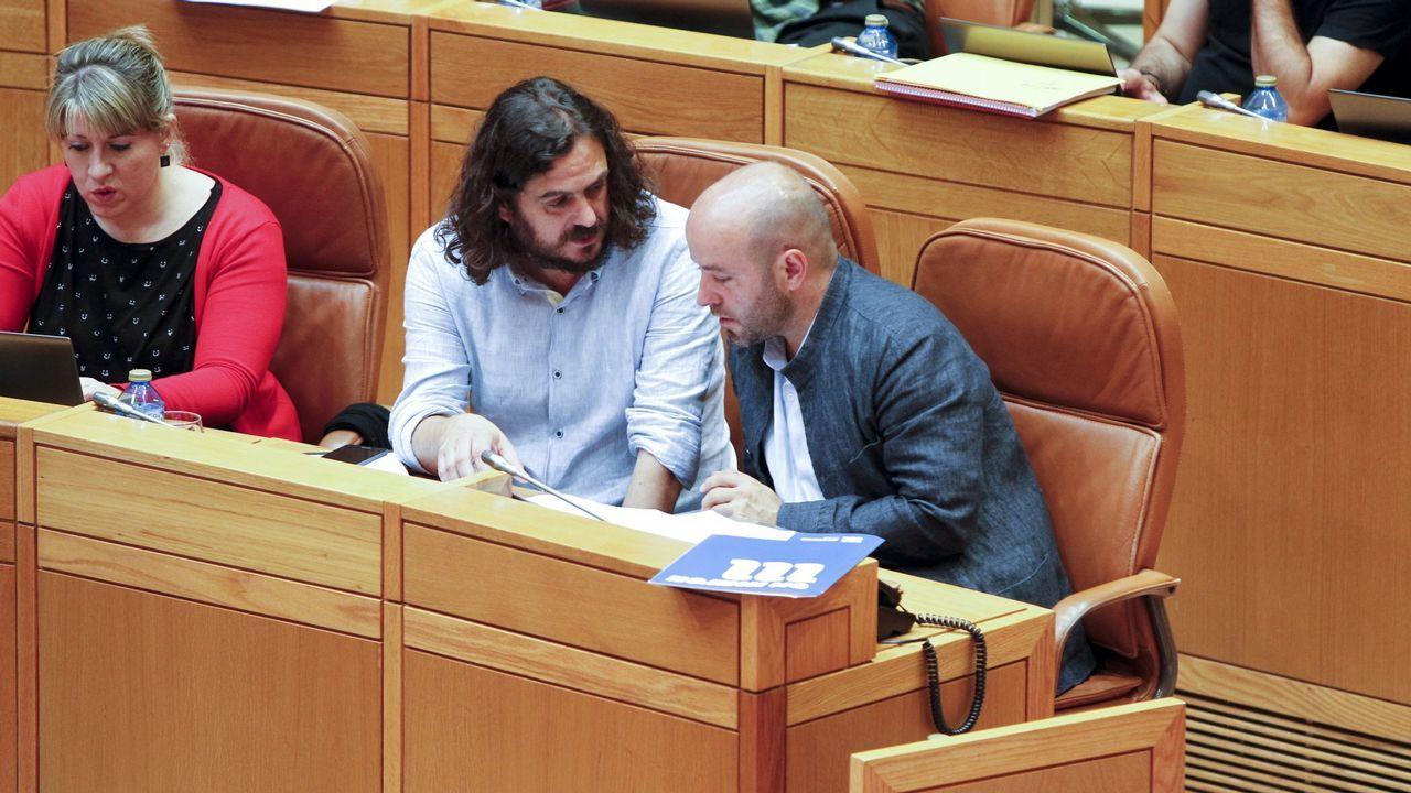 Antón Sánchez, de En Marea, en el Parlamento