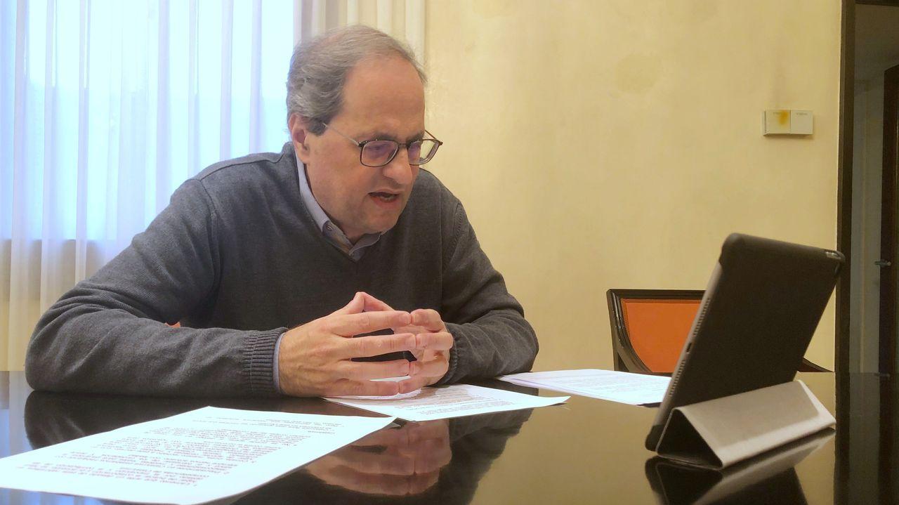 El president de la Generalitat, Quim Torra, anunció pocas horas después que él también había dado positivo