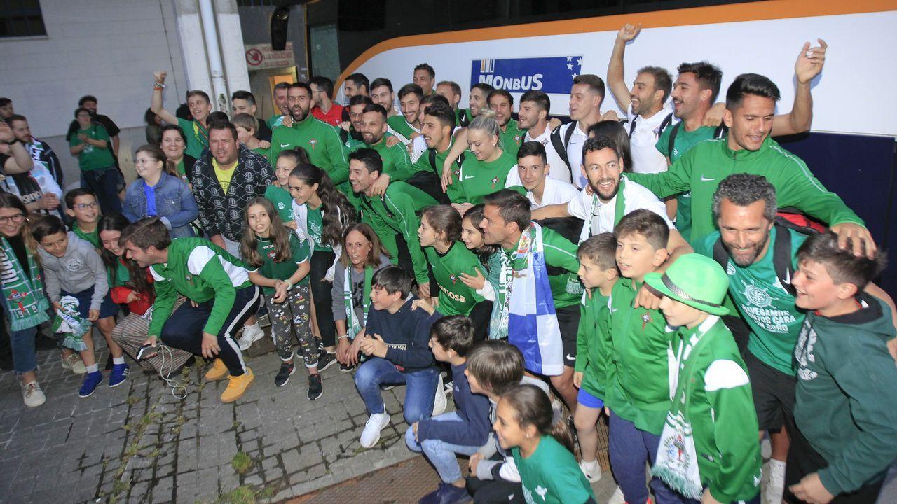 Ferrol recibe a los héroes del ascenso