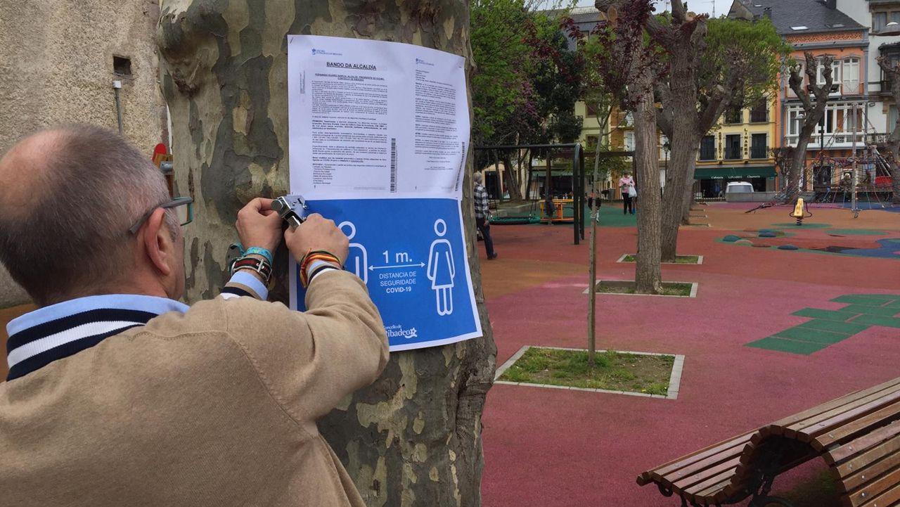 Cierran un parque infantil en Ribadeo