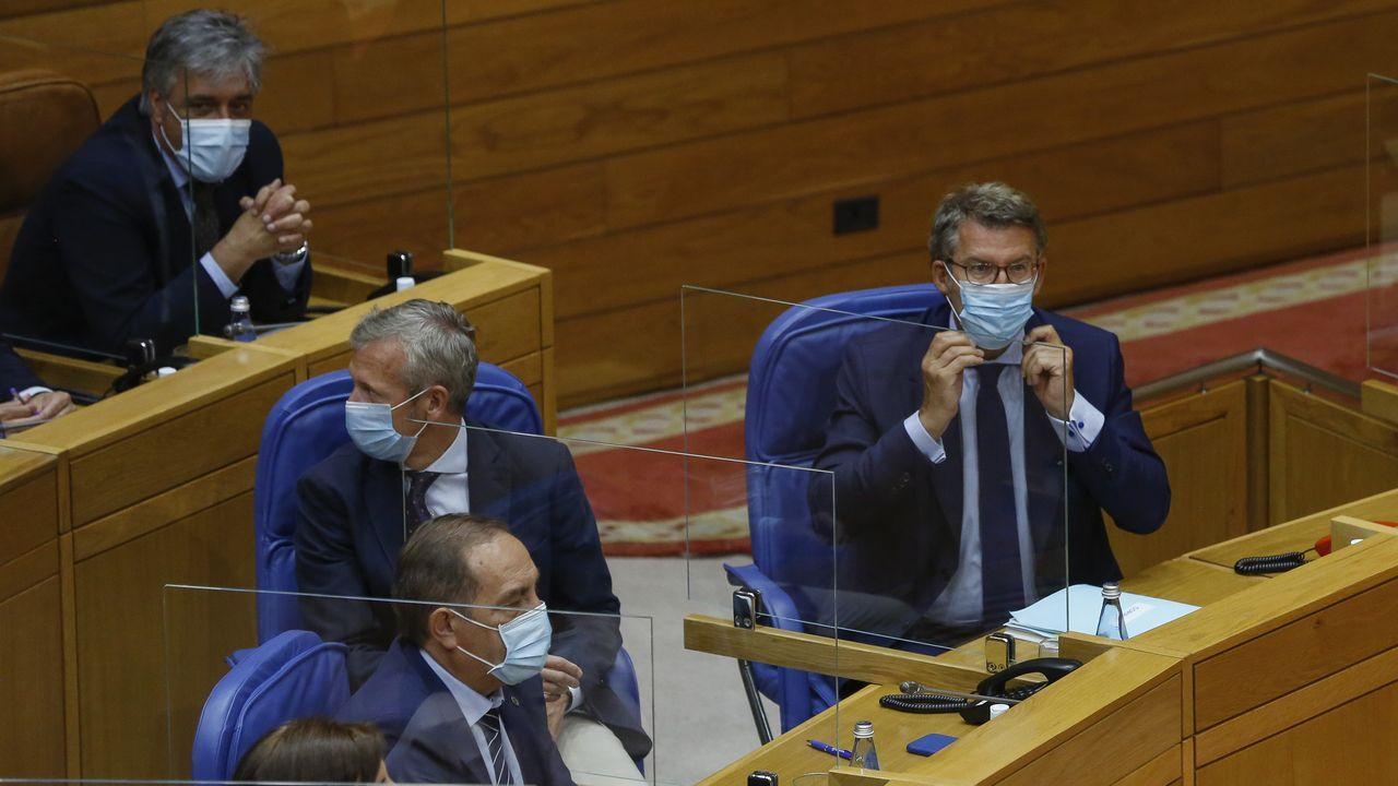 Feijoo, en la sesión constitutiva del Parlamento celebrada el pasado 7 de agosto