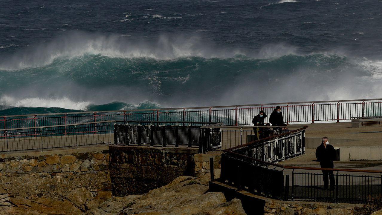 El ciclón extratropical Bella ya se deja notar en la costa de A Coruña.Imagen de archivo
