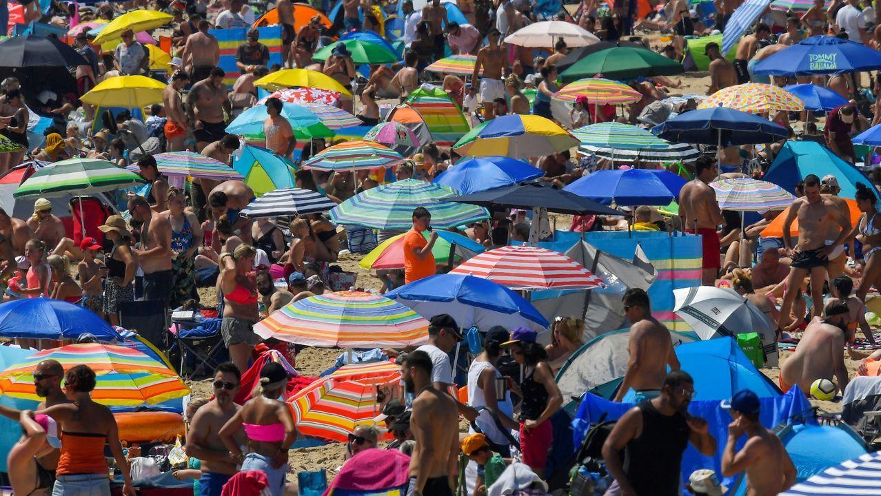 Playas británicas abarrotadas