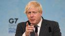 Boris Johnson durante una rueda de prensa el último día de la cumbre del G7 en Cornualles
