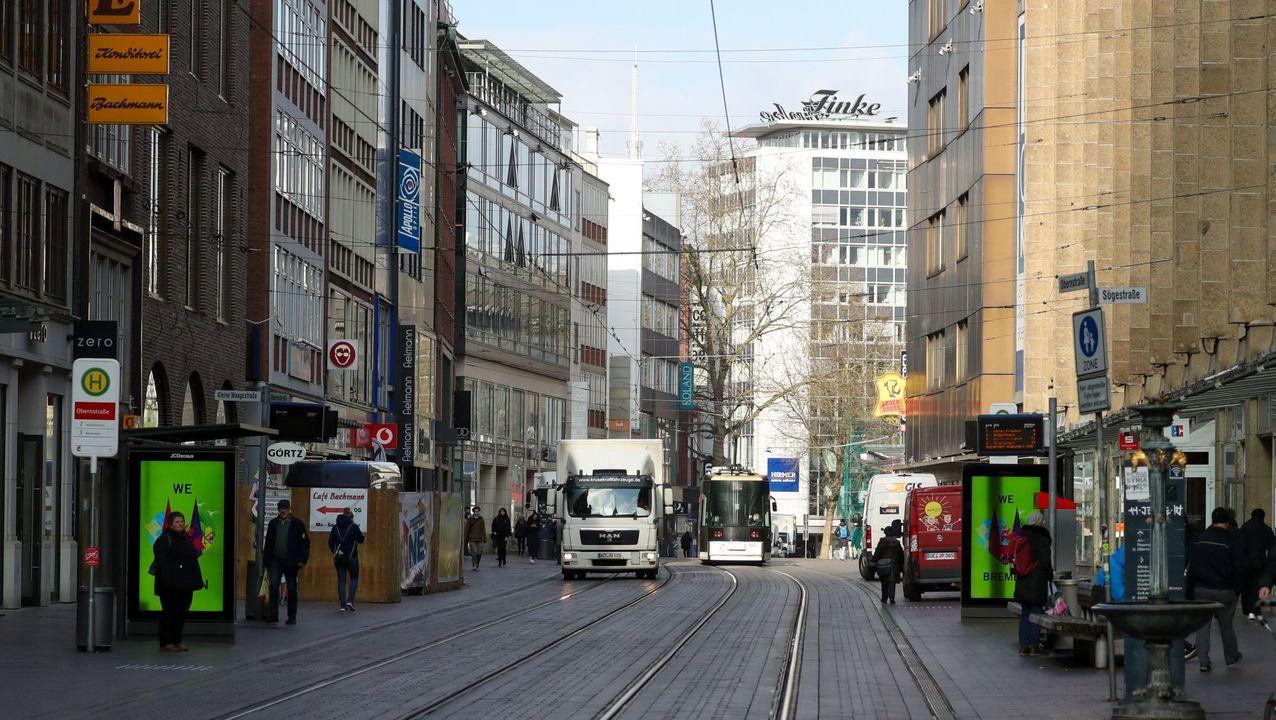 Una calle de Bremen, en Alemania.