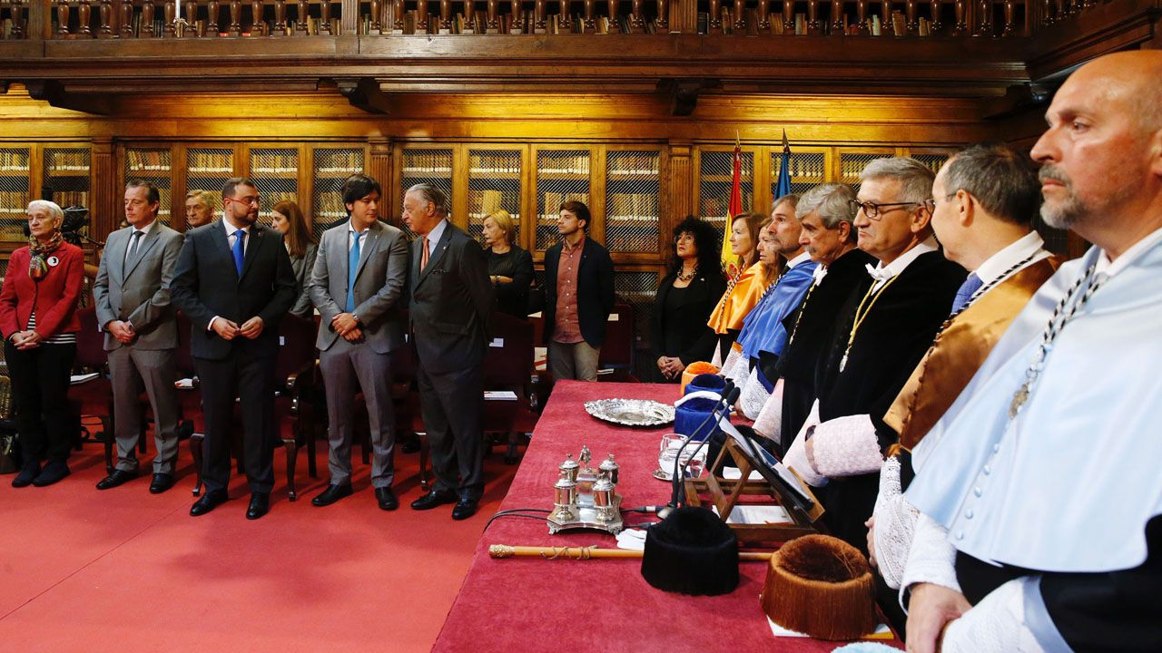 Barbón se estrena en la Universidad.Borja Sánchez, en la Junta