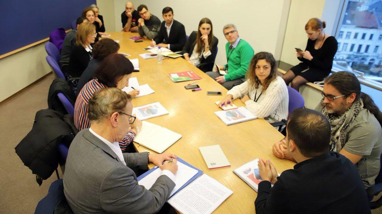 Reunión de los dos delegados de CSI en Vauste en Bruselas