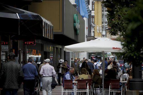 Una terraza de Oviedo