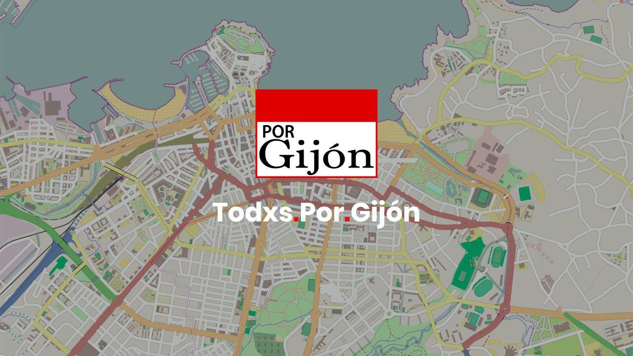 Logo del nuevo partido Por Gijón